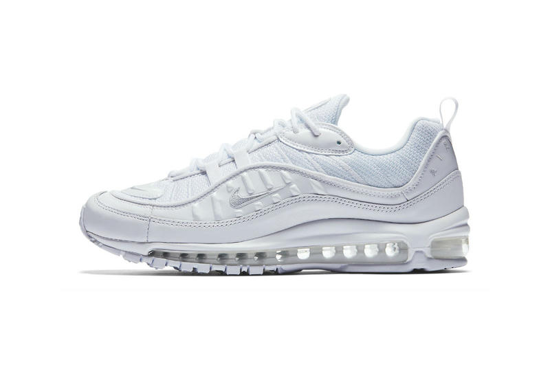 separation shoes 35625 3f6fc Nike Air Max 98 Triple White Pure Platinum Reflective Silver 2018 february  9 release date info