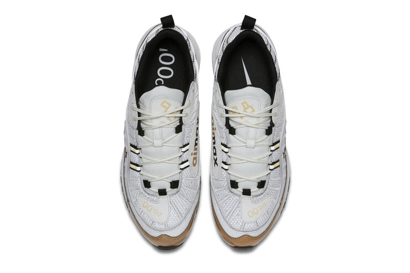 "98e37a3cc8d The Nike Air Max 98 ""UK"" Mixes White With Gold"