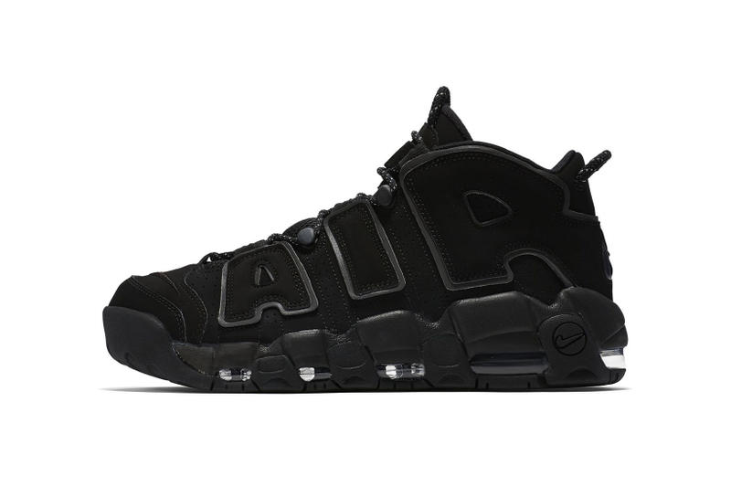 9c5bbcf14180 Nike Air More Uptempo Triple Black Reflective 2018 March 18 release date  info sneakers shoes footwear