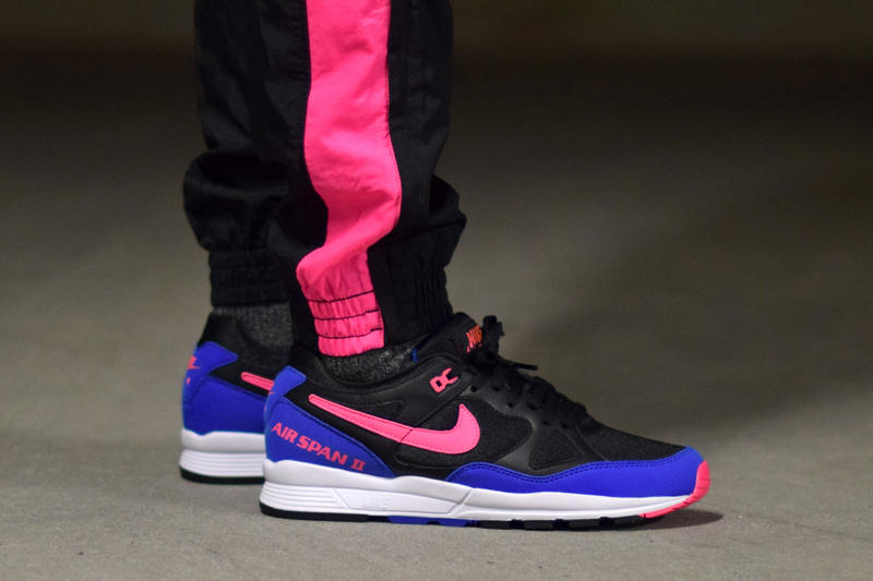 On-Feet Look at the Nike Air Span II Hyper Royal Sneaker Shoes Mens Womens Sneakers Basketball