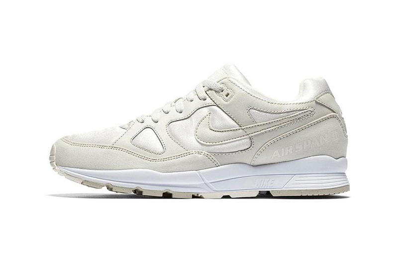 0e770f24480e43 Nike Air Span II Summit White Release Dark Stucco White Light Bone Colorway  Retro Runner