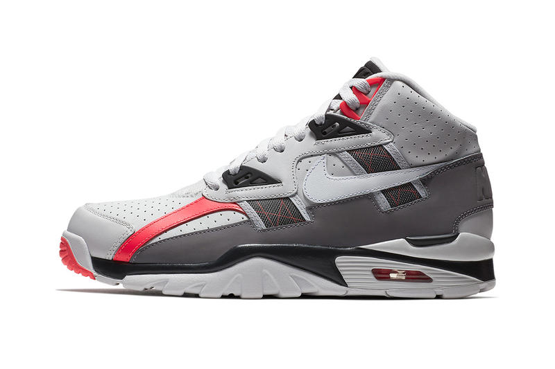check out e534b 3391b Nike Air Trainer SC High Vast Grey Gunsmoke Infrared Bo Jackson Release Info