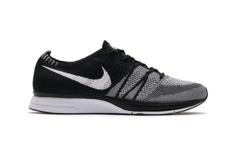 Nike Flyknit Trainer Triple Black Oreo Footwear Shoes Sneakers Running Black White Runners Release Info Date
