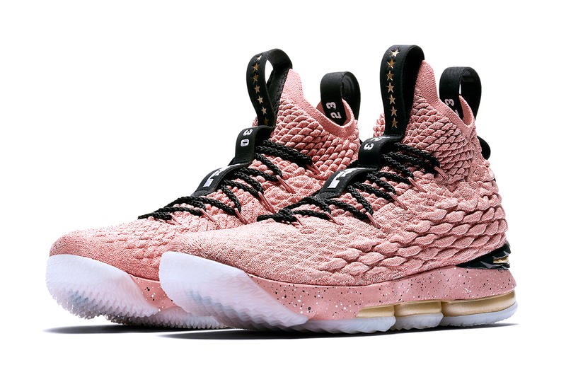 466bb322c32 Nike LeBron 15 All-Star Release Lebron James metallic gold pink Los Angeles  Basketball