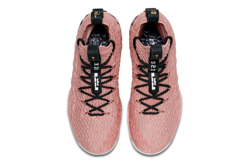 Nike LeBron 15 All-Star Release Lebron James metallic gold pink Los Angeles Basketball