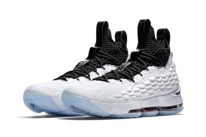 Nike LeBron 15 Graffiti Release LeBron James Basketball black white e2b94529c40f