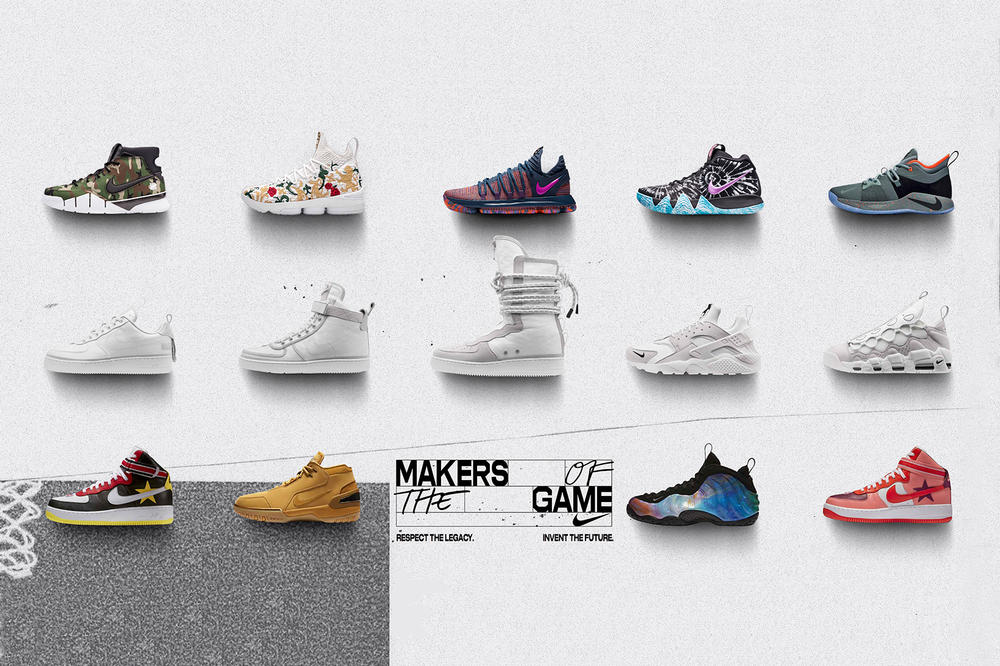 Nike NBA All Star 2018 Makers of the Game Zoom Kobe 1 Air Zoom Generation LeBron 15 KITH UNDEFEATED Air Foamposite One NikeLab Riccardo Tisci Air Force 1 Low Huarache Vandal Hi Supreme Air More Money SF AF1 Hi
