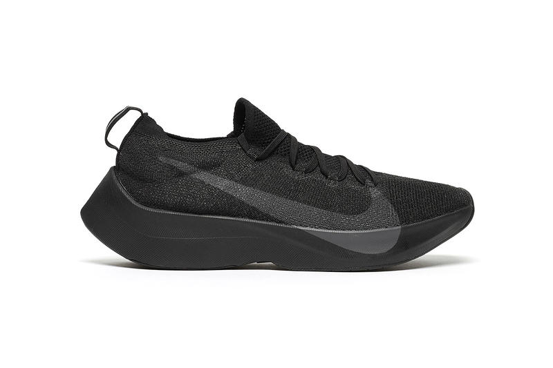 Nike React Vaporfly Elite Triple Black 2018 february 23 release date info sneakers shoes footwear anthracite AQ1763 001