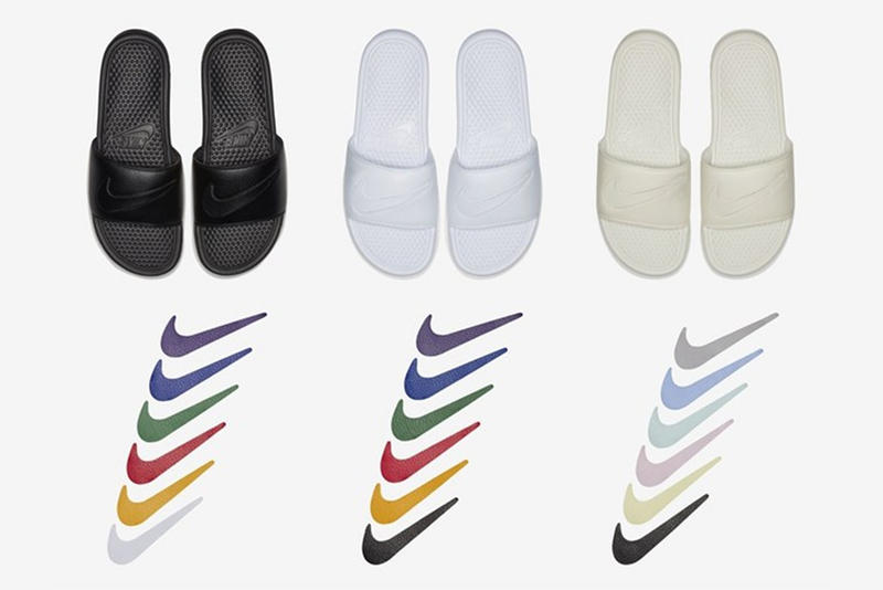 e332244ac9ff9 Nike Benassi Slides With Customizable Swoosh | HYPEBEAST