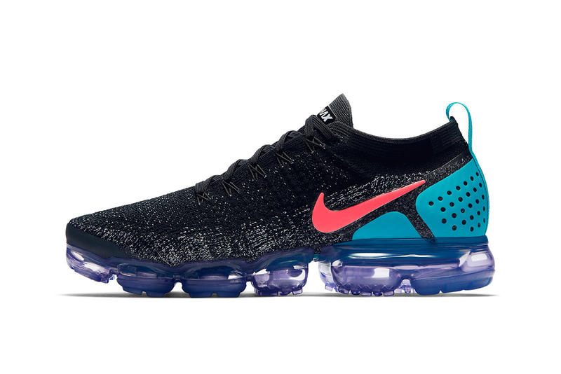 low cost e3762 de6ed Nike Vapormax Flyknit 2.0 Three New Colors Air Max Day Pink Ice Blue Black  Sneakers Shoes
