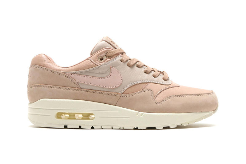 buy online dd3b5 7e088 NikeLab Air Max 1 Pinnacle Sand Release Date natural tan leather