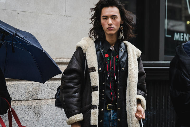 New York Fashion Week 2018 fall winter street style snap style supreme off white heliot emil louis vuitton yeezy