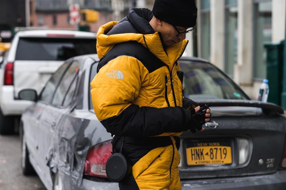 New York Fashion Week 2018 fall winter street style snap style supreme off white heliot emil louis vuitton yeezy Fendi Timberland