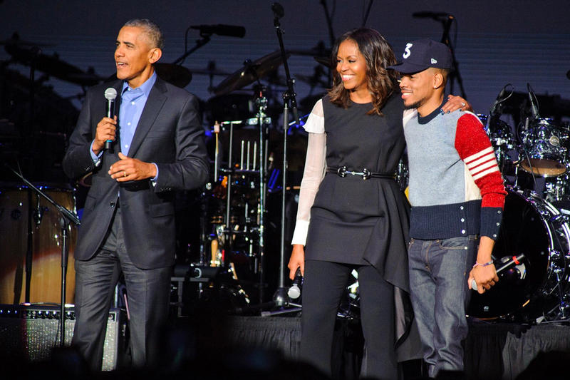 Barack Obama Most Name-Dropped POTUS President in Music Chance the rapper Michelle Obama