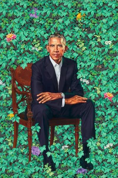 Kehinde Wiley Amy Sherald Barack Michelle Obama Portraits National Portrait Gallery smithsonian washington dc 2018