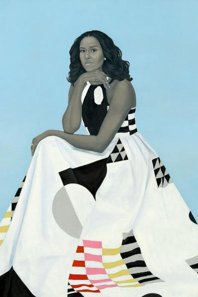 Kehinde Wiley Amy Sherald Barack Michelle Obama Portraits National Portrait Gallery smithsonian washington dc 2018