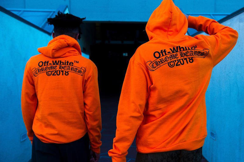 Chrome Hearts Off White Orange Hoodie virgil abloh paris exclusive 2018 march 1 release date info drop release collaboration