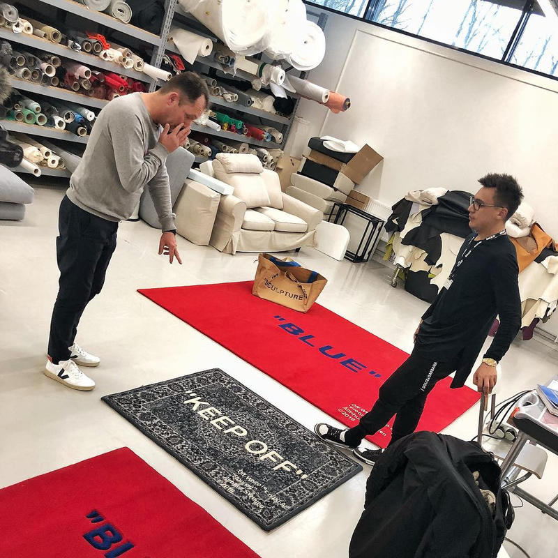 Off White X Ikea Collaboration Rug Hypebeast