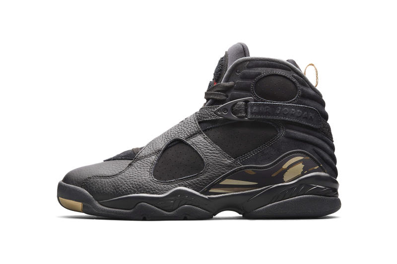 OVO Air Jordan 8 Nike SNKRS Draw Release 2018 february 16 date info sneakers shoes footwear Drake Octobers Very Own black white gold