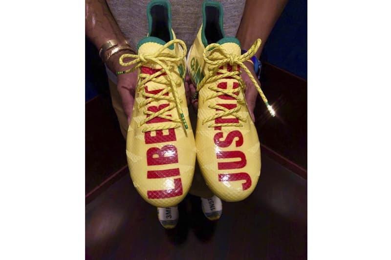 Pharrell William adidas AM4MN Football Cleat Super Bowl LII speedfactory