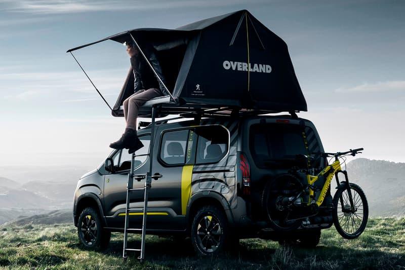 Peugeot Rifter 4X4 Concept Design Tent Overland Off-Road Car Dangel Drive System BlueHDi 130 L750 R Visual Racer