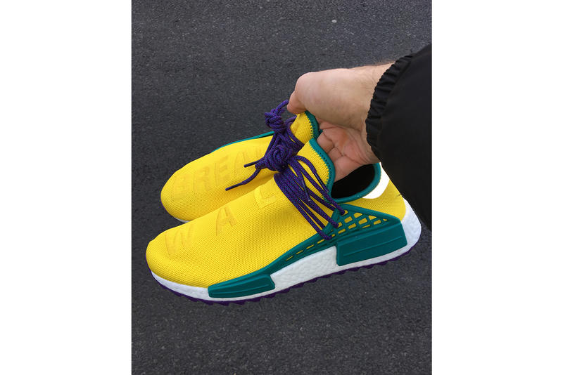 Pharrell Williams adidas Originals Hu NMD Yellow Green Purple
