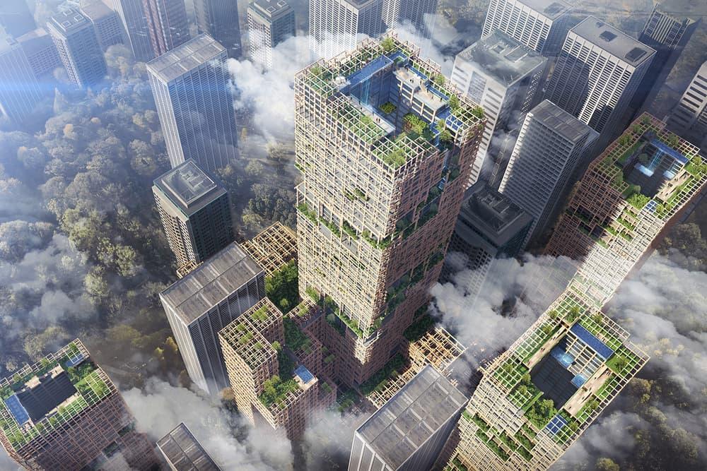 Plyscraper City Wooden Skyscraper Tokyo 350 Metres 70 Floors Sumitomo Forestry Co W350 Project
