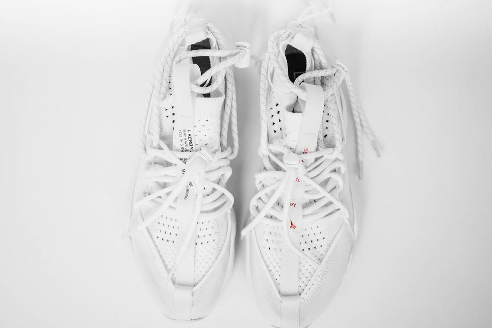 Pyer Moss Reebok DMX Fusion 1 Experiment collaboration first look white sneakers shoes chunky runner runway 2018 Fall winter collection footwear