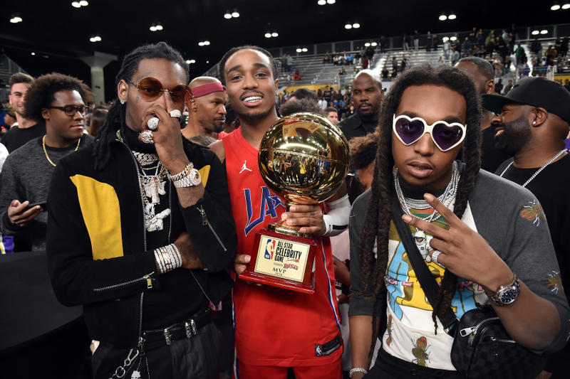 Quavo MVP 2018 NBA All-Star Celebrity Game Migos Basketball Los Angeles