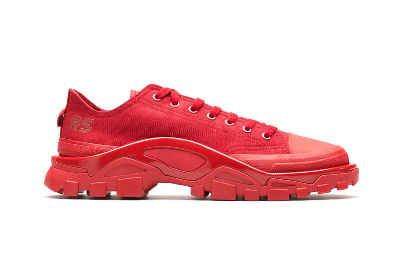 Raf Simons' Detroit Runner Red White Grey Beige Blue