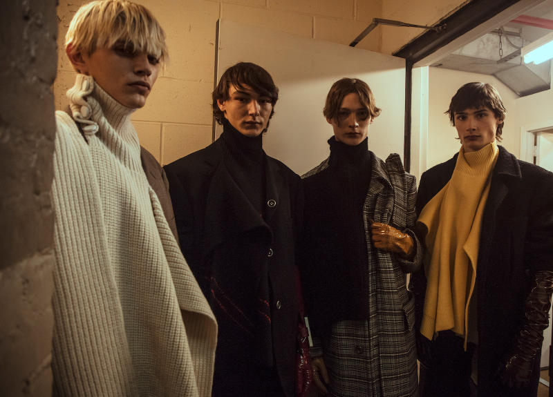 Raf Simons Fall/Winter 2018 Runway Backstage behind the scenes Youth in Motion New York Fashion Week