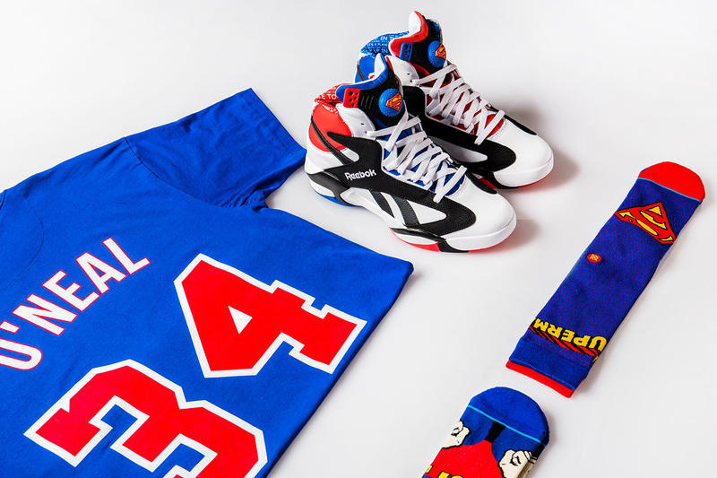 Shoe Palace Reebok Shaq Attaq Superman O Neal Mitchell Ness T Shirt 2018 all star february 16 release date info sneakers shoes footwear collaboration collection 25 twenty five years anniversary