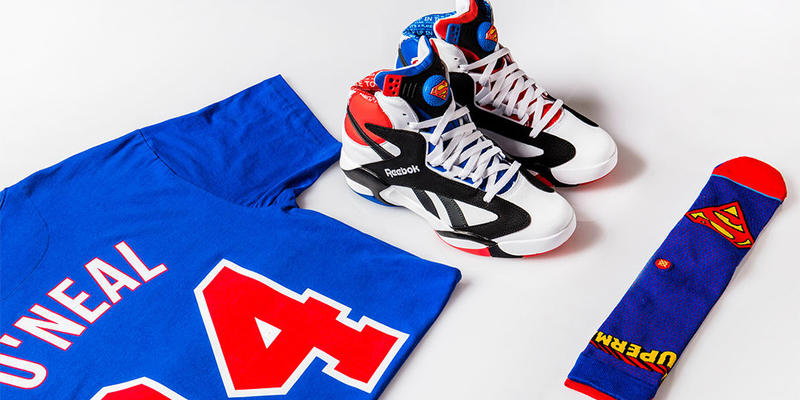 low priced 140c7 ae4bc Shoe Palace Reebok Shaq Attaq Superman O Neal Mitchell Ness T Shirt 2018  all star february