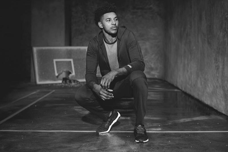Reigning Champ adidas 2018 Spring/Summer Collaboration Nick Young Karlie Kloss february march release date info ultraboost ultra boost sneakers shoes footwear hoodie leggings knit