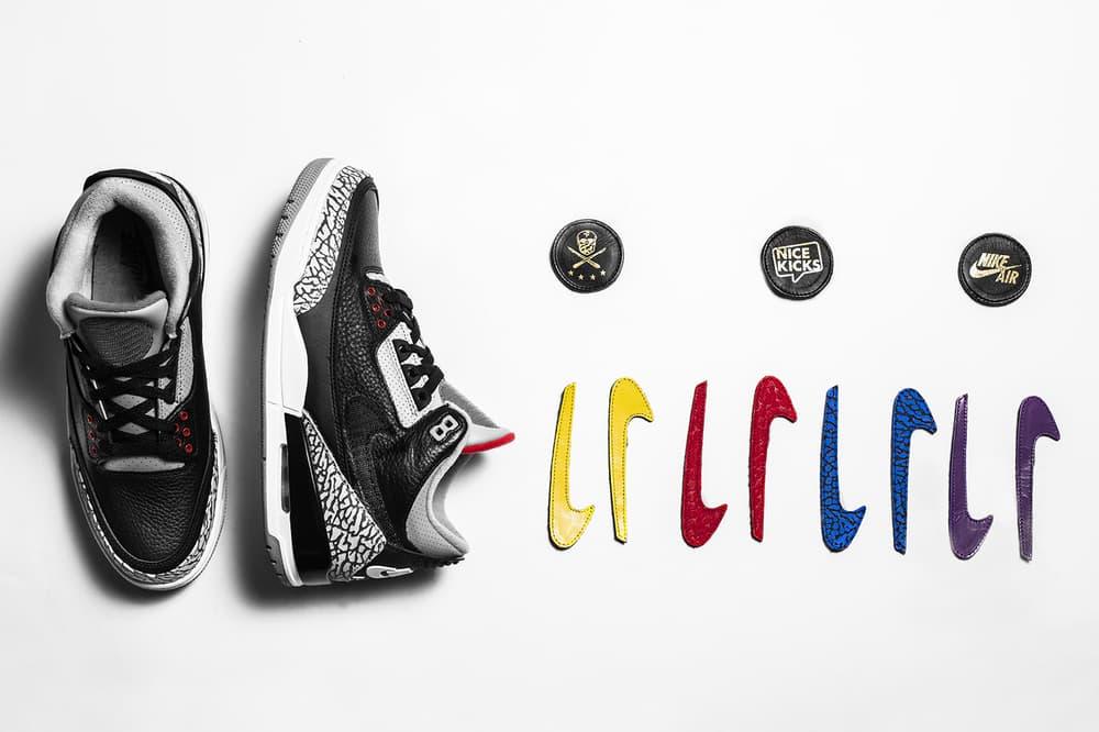 The Shoe Surgeon Air Jordan 3 JTH Black cement custom nice kicks los angeles 2018 february 17 release date info sneakers shoes footwear