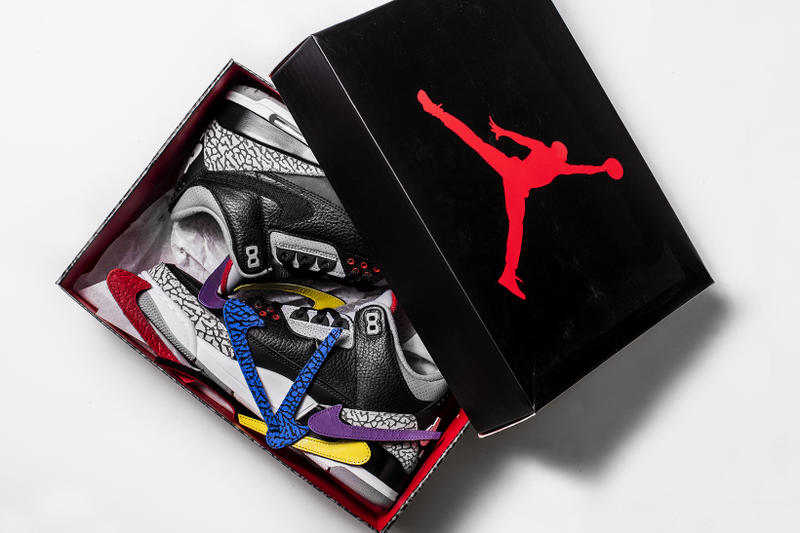 The Shoe Surgeon Air Jordan 3 JTH Black cement custom nice kicks los angeles 2018 february 17 release date info sneakers shoes footwear