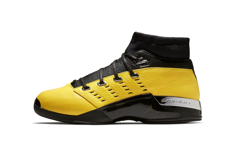 Solefly Air Jordan 17 Low collaboration yellow release date info 2018 february 17 sneakers shoes footwear lightning michael 2002 all star game washington wizards black