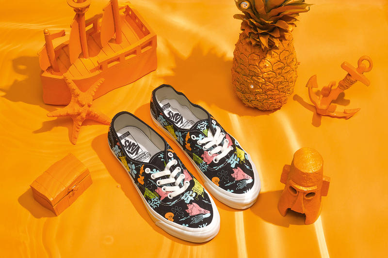 SpongeBob Squarepants Vault by Vans Collection Sk8-Hi Slip-On Authentic Patrick Plankton Skate Decks