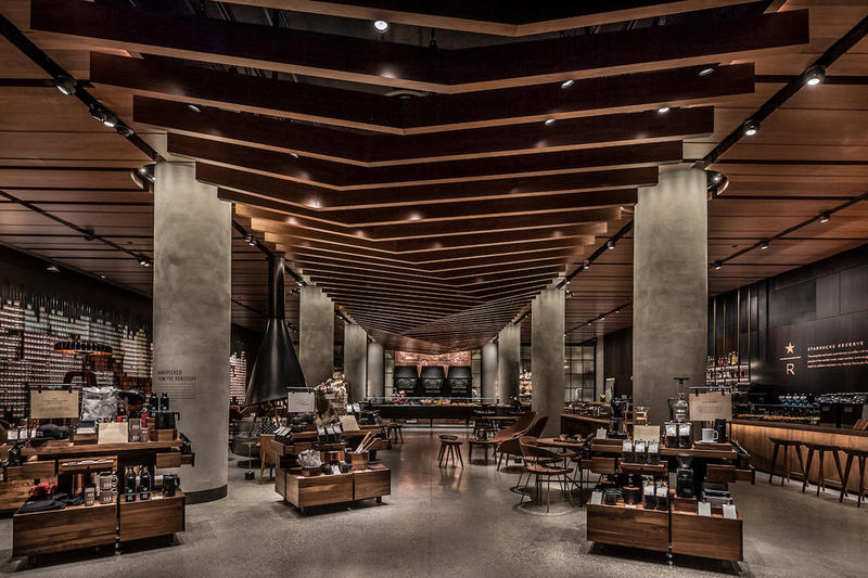 Starbucks Reserve Store Seattle washington upscale coffee princi bakery full bar alcohol fancy