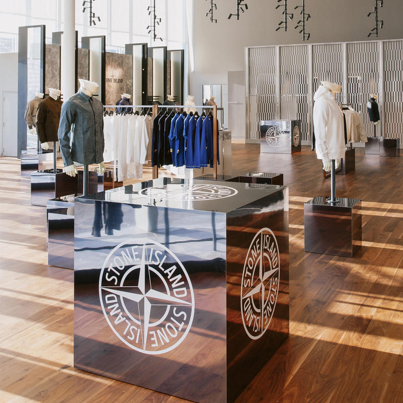 Stone Island Pop Up Shop Holt Renfrew Square One Store West Toronto Ontario Canada 2018 july 28 ghost collection exclusives