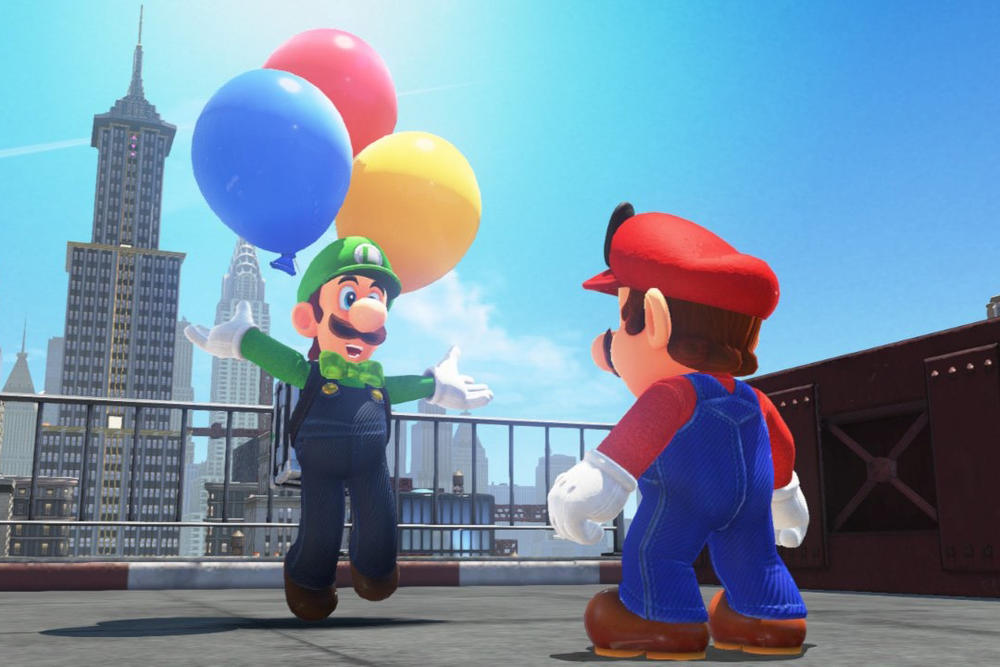 Super Mario Odyssey Balloon World Update Nintendo Switch Luigi Hide It Find It Snapshot Filters Musician Outfit Knights Armor