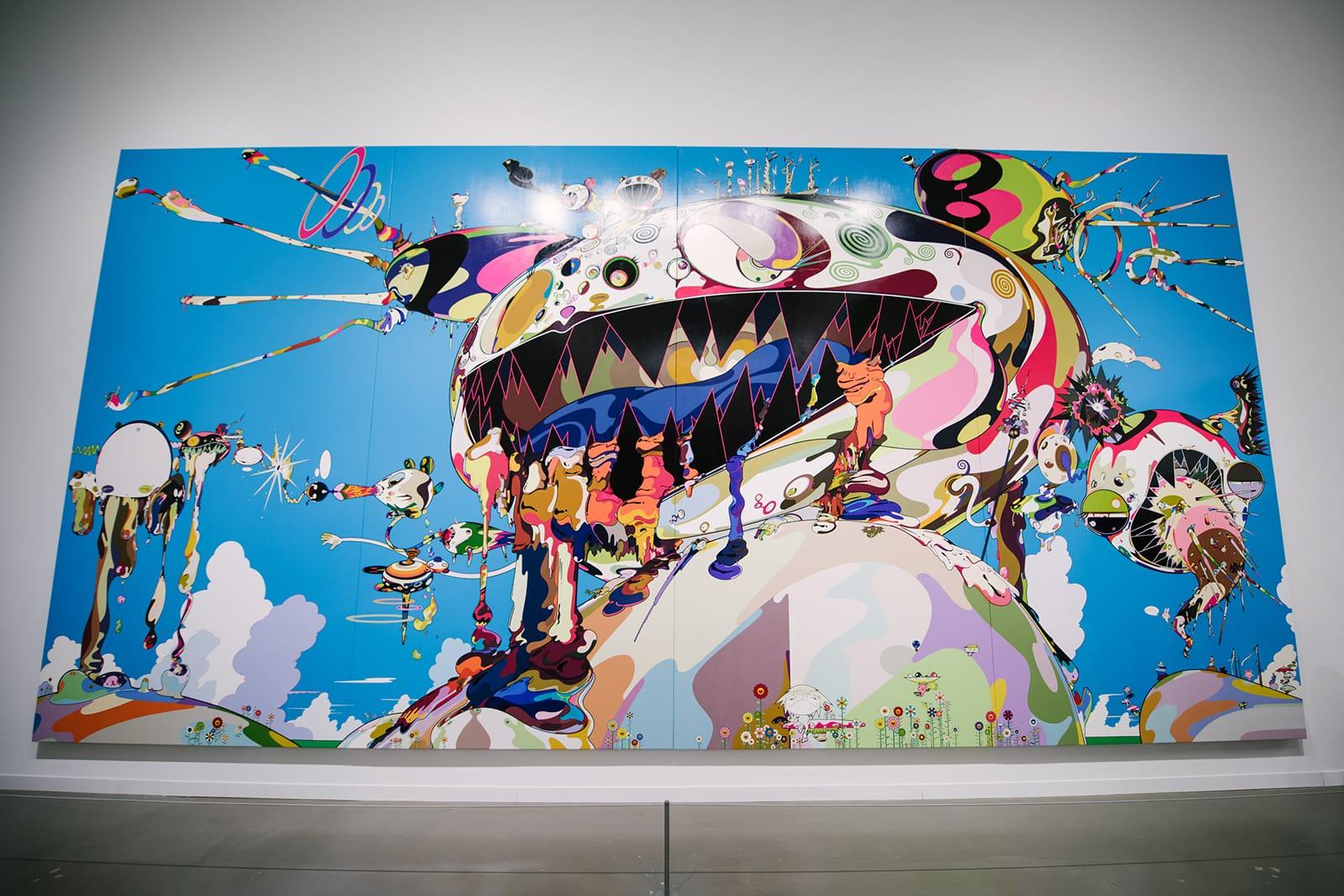 TAKASHI MURAKAMI OCTOPUS EATS ITS OWN LEGS METALLIC PRINT FRAMED 12 x 18