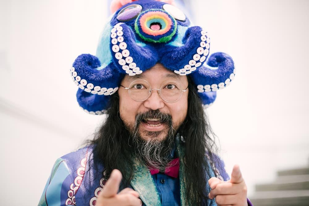 Takashi Murakami The Octopus Eats Its Own Leg Streetsnaps Vancouver Art Gallery Exhibit Display Off White Air Jordan 1 Japanese Art Anime