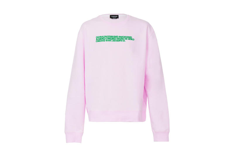 The Webster Calvin Klein 205W39NYC Pink Crewneck Sweatshirt collaboration exclusive 2018 february release date info