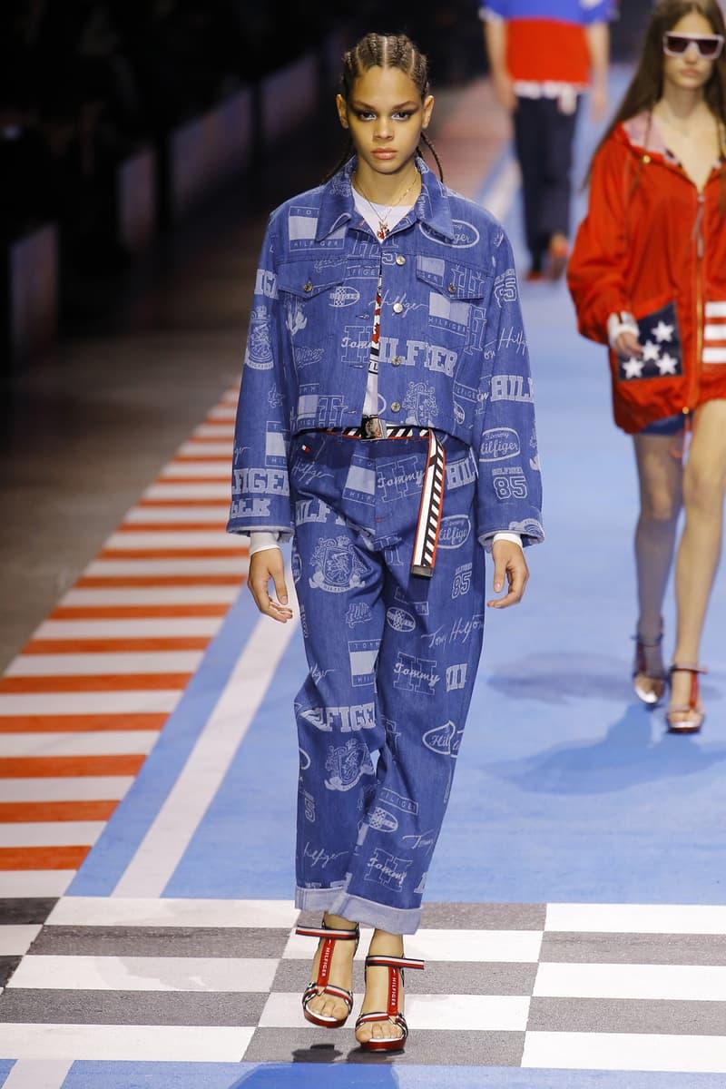 Tommy Hilfiger 2018 Spring Runway Collection Gigi Hadid Milan fashion week summer