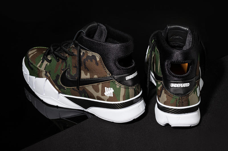 UNDEFEATED Nike Kobe 1 Protro Closer Look Kobe Bryant footwear Camo Orange February 2018