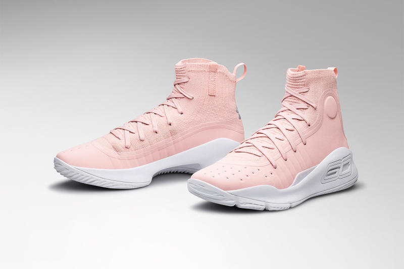 Under Armour Curry 4 Flushed Pink Stephen Curry Ayesha Curry Valentines Day February 2018 footwear