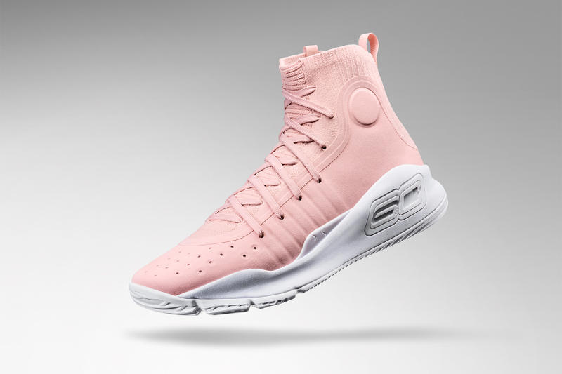 low priced 0cff8 795e8 Under Armour Curry 4 Flushed Pink for Valentine's Day ...