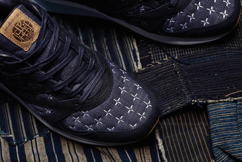 Up There Saucony GRID 8000 Sashiko Collaboration denim 2018 february 16 23 release date info sneakers shoes footwear