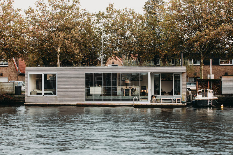 VanOmmeren architects Floating Villa River Haarlem Netherlands Homes